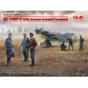 ICM 48805 Chasseur Messerschmitt Bf-109F-4 + figurines de personnel au sol