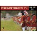 Strelets 232 Infanterie britannique en ligne de feu 1701-1714