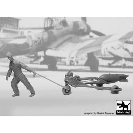 Black Dog F32087 1/32 WW II Luft.bombenpersonal +b.loader +SC250  N°2