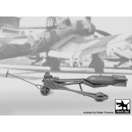 Black Dog F32089 1/32 WWII Luft.bomb loader +SC250 bomb