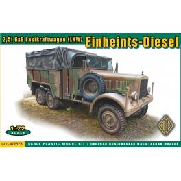 ACE 72578 Camion allemand LKW Einheints-Diesel 2,5t 6x6