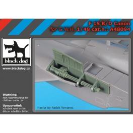 Black Dog A48094 1/48 F-15 B/D canon