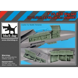 Black Dog A48097 1/48 F-15 B/D big set