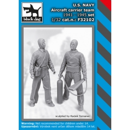 Black Dog F32102 1/32 US NAVY aircraftcarrier team 1941-45 set