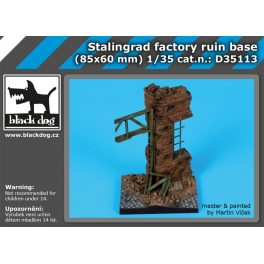 Black Dog D35113 1/35 Stalingrad factory ruin base