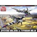 academy 12512 Spitfire Mk.XIVc & Hawker Typhoon Mk.IB