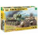 Zvezda 3580 T-34/76 demineur