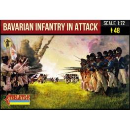 Strelets 227 Fantassins bavarois à l'attaque - Période napoléonienne