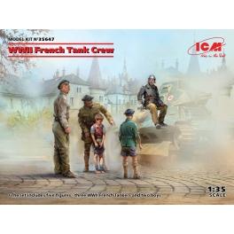 ICM 35647 Equipage de char français et enfants 2e GM