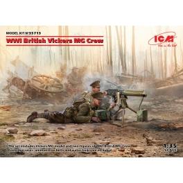ICM 35713 Mitrailleuse britannique Vickers et servants 1e GM