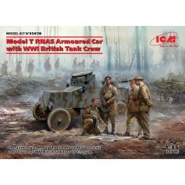 ICM 35670 Voiture britannique blindée Ford T (RNAS) avec figurines