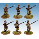 Artizan Designs NWF0015 British infantry in Poshteen Advancing