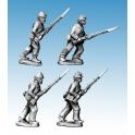 Crusader Miniatures ACW022 ACW Infantry in Shirt & Kepi Advancing/ Charging
