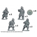 Crusader Miniatures DAS006 Saxon Huscarls with Spears
