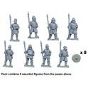 Crusader Miniatures DAS009 Saxon Warriors with Spears Upright