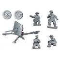 Crusader Miniatures WWB011 British 2pdr AT gun and crew (1AT Gun, 4 crew)