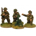 Crusader Miniatures WWB110 Late British 3inch Mortar and crew