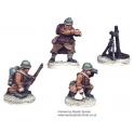 Crusader Miniatures WWF011 French 81mm Mortar (1 Mortar, 3 crew)