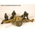 Crusader Miniatures WWG060 German Pak40 75mm AT Gun & 3 crew