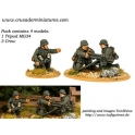 Crusader Miniatures WWG010 German HMG (1 Tripod MG34, 3 crew)