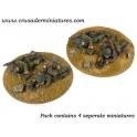 Crusader Miniatures WWG012 German 5cm Mortar Teams
