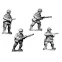 Crusader Miniatures WWR021 Russian LMG Teams, Winter Uniform wearing helmets