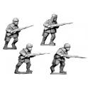 Crusader Miniatures WWR023 Russian Infantry, Winter Uniform in fur hats.