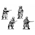 Crusader Miniatures WWR044 Russian Infantry SMGs & LMGs in  Fur Hats