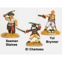 Crusader Miniatures CCP001 Sea Dogs - Yul Brinner, El Chameau, Seaman Staines