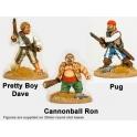 Crusader Miniatures CCP002 Wild Rovers - Pretty Boy Dave, Cannonball Ron, Pug
