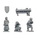 Crusader Miniatures MEH008 Bombard and Crew (1 bombard, 3 crew)