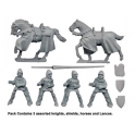 Crusader Miniatures MEH105 Knights with Lances
