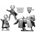 Crusader Miniatures MCF047 Teutonic Knight Banner Bearer.