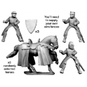 Crusader Miniatures MCF010 Mounted knights with lances upright
