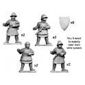 Crusader Miniatures MCF030 Hommes d'arme avec lance et bouclier