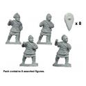 Crusader Miniatures DAB010 Peltasts byzantins en armure matelassée