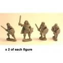 Crusader Miniatures DAI003 Irish Warriors with short sword & buckler