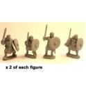 Crusader Miniatures DAI006 Guerriers nobles irlandais avec épée et bouclier