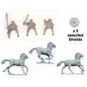 Crusader Miniatures DAI009 Mounted Nobles Command