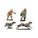 Crusader Miniatures DAI012 Packmasters & Hounds (2 men, 8 hounds)