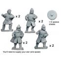 Crusader Miniatures DAE002 Unarmoured Spanish Spearmen