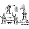 Crusader Miniatures RFA026 Greek Thureophoroi Command
