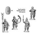 Crusader Miniatures ANC010 Veteran Spearmen Command