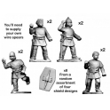 Crusader Miniatures ACE003 Ancient Celt Warriors carrying Spears.