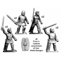 Crusader Miniatures ACE008 Unarmoured warriors with Swords
