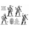Crusader Miniatures ACE010 Naked Warriors with Spears