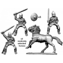 Crusader Miniatures ACE022 Mounted Armoured Nobles with Swords