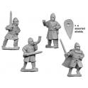 Crusader Miniatures DAN009 Unarmoured Norman Infantry Command