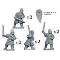 Crusader Miniatures DAN010 Dismounted Norman Knights with Swords
