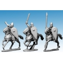 Crusader Miniatures DAN105 Norman Cavalry Command in Chainmail